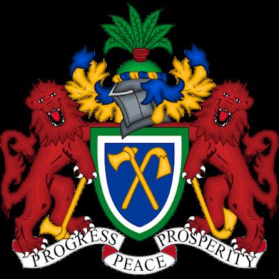 Coat of arms - Flags - Emblem - Logo Gambar Lambang, Simbol, Bendera Negara Gambia