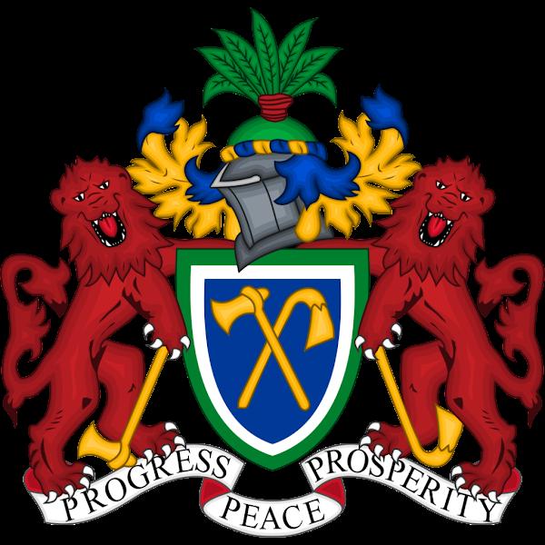 Logo Gambar Lambang Simbol Negara Gambia PNG JPG ukuran 600 px