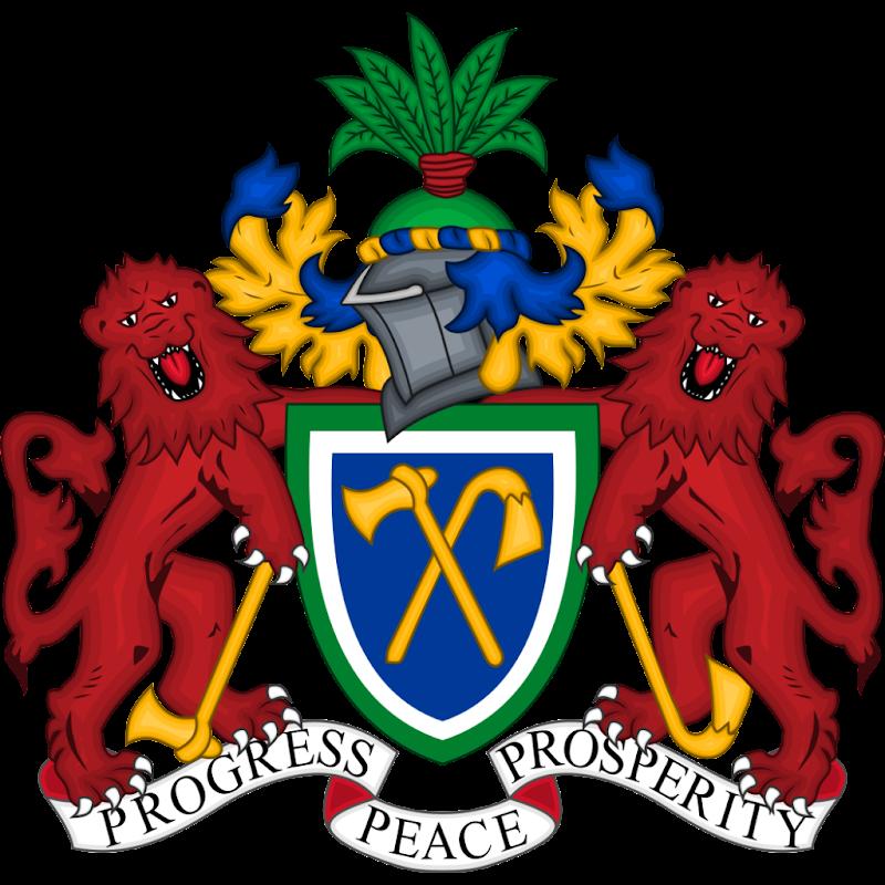Logo Gambar Lambang Simbol Negara Gambia PNG JPG ukuran 800 px