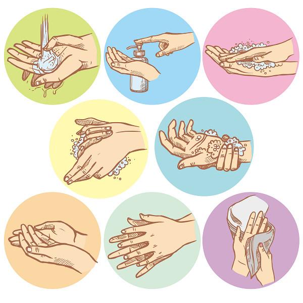 cuci tangan dengan sabun antiseptik