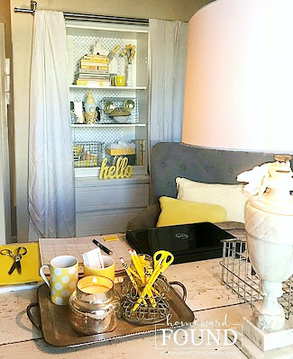 january decor, winter home decor,color,color palettes,colorful home,Pantone color of the year,decorating,diy decorating,room makeovers,winter,white,trends,new year,Illuminating Yellow and Ultimate Gray,Pantone colors of the year 2021,2021, yellow and gray,gray and yellow,repurposed decor,restyle your rooms,organizing,office decor,