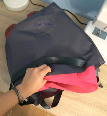 Adzik tworzy - torebka DIY z zamkiem jak uszyć