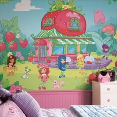 STRAWBERRY SHORTCAKE BEDROOMS DECOR - BEDDING SET www.dormsdecorating.blogspot.com