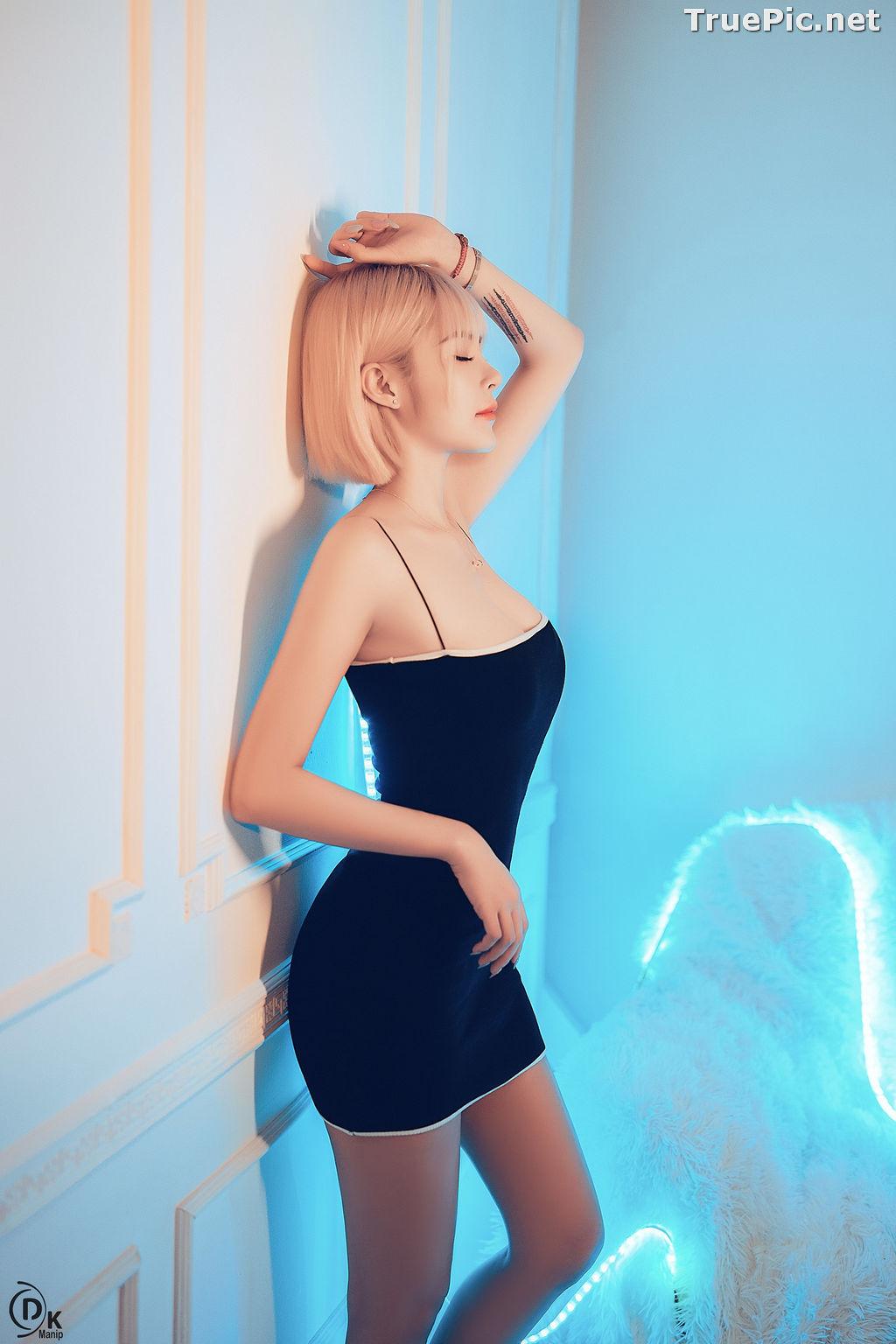 Image Vietnamese Model - Beautiful Short Hair Girl In Black Bodycon Dress - TruePic.net - Picture-1
