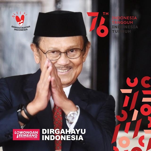 Logo dan Twibbon Hari Ulang Tahun Republik Indonesia Ke-76 Tahun 2021 Versi Lowongan Rembang