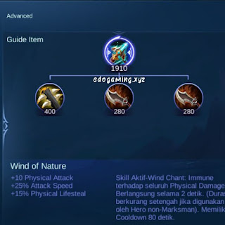 penjelasan lengkap item mobile legends item wind of nature