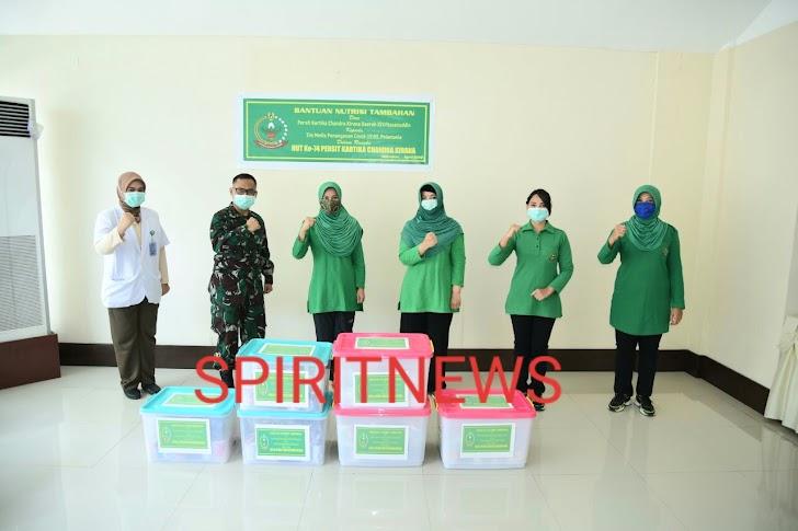 Aksi Peduli Persit KCK PD XIV/Hasanuddin Bagikan Nutrisi Kepada Tenaga Medis
