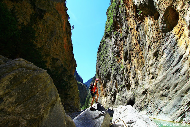 Climbing Rocks Samaria Gorge Hike Crete Greece