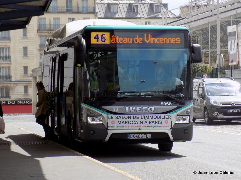 les tramways m tro rer bus de la ratp bus 46. Black Bedroom Furniture Sets. Home Design Ideas