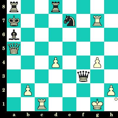 Les Blancs jouent et matent en 2 coups - Arthur Bisguier vs Werner Golz, Leipzig, 1960