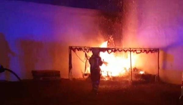 Incendio de un Belén en Arrecife, Lanzarote