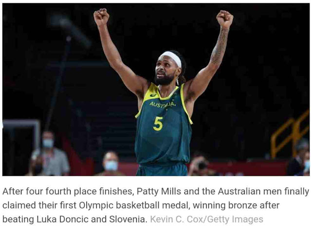 News Today   Patty Mills scores 42 as Australia wins first Olympic medal in men's basketball