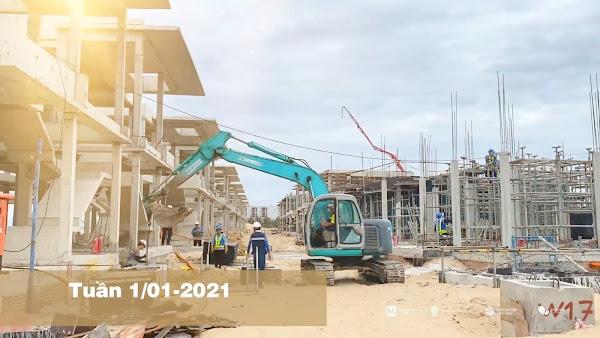 ảnh chụp tiến độ thi công dự án Angsana Residences ngày 01/01/2021
