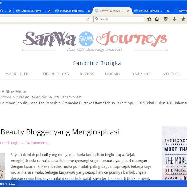 Review buku bareng Sandrine Tungka