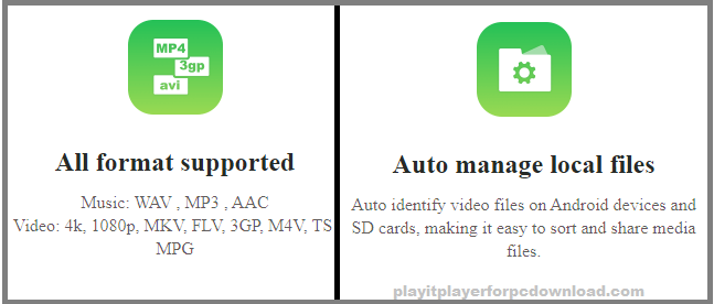 playit player for pc features
