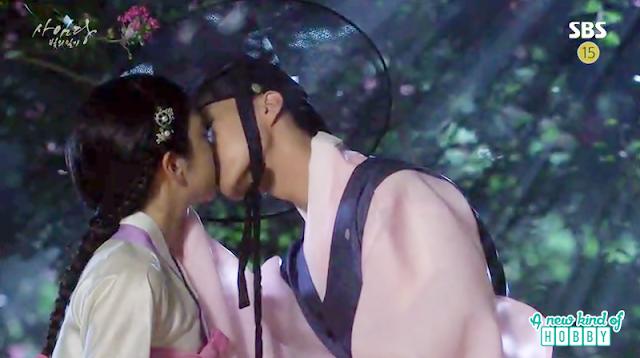saimdang and lee gyeom kiss - Romantic Moments & Kisses of Lady Shin & lee Gyeom - Saimdang, Light's Diary