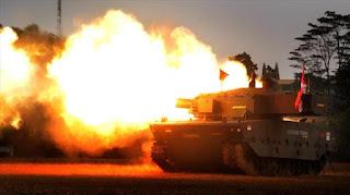 Uji Tembak Medium Tank Pindad