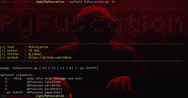 PyFuscation : Obfuscate Powershell Scripts By Replacing Function Names, Variables & Parameters