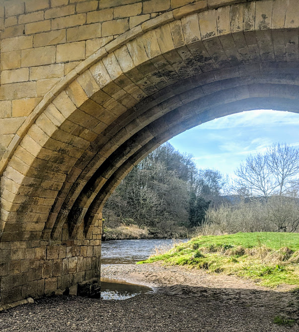 Rothbury Riverside Walk, Picnic Spots & Playground  - river banks under bridge