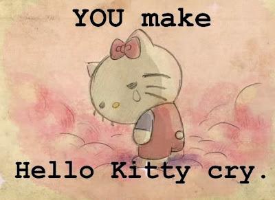 Gambar Hello Kitty Menangis Sedih Lagi Galau Sad Crying