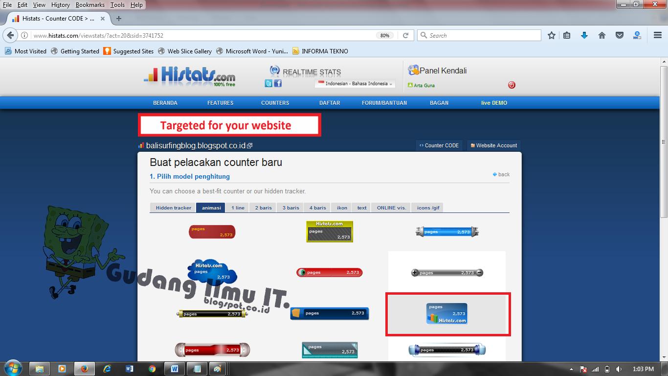 Cara Mendaftar Histats Dan Memasang Widget Histats Di Blogspot