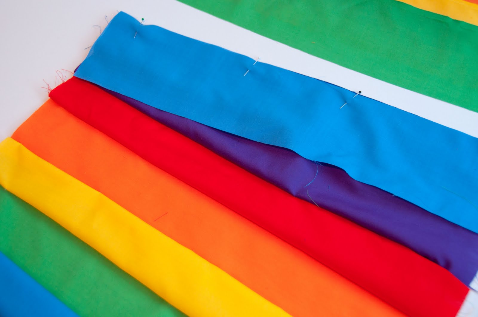 Aesthetic Nest Sewing Rainbow Wrap Skirt Tutorial