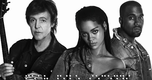 CD SINGLE RIHANNA, KANYE WEST AND PAUL MCCARTNEY - FOURFIVESECONDS [2016]