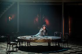 Claire Rutter (Sieglinde) in Wagner's Die Walküre at Grange Park Opera (photo Robert Workman)