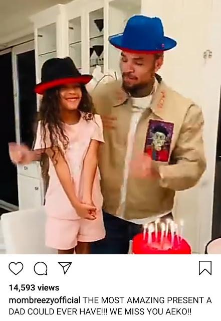 Chris Brown's daughter, Royalty Brown sings to him on his birthday in cute video