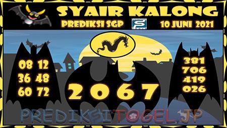 Syair Kalong SGP Kamis 10-Jun-2021