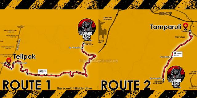 Jurassic Park Kiulu Driving Directions