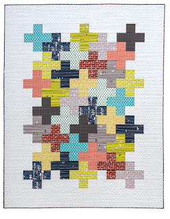 Intertwined quilt pattern from the book Modern Plus Sign Quilts