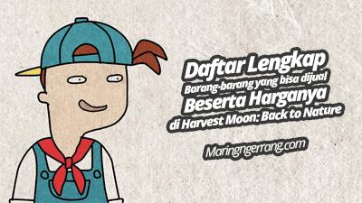 Daftar Lengkap Harga Jual Barang di Harvest Moon: Back to Nature