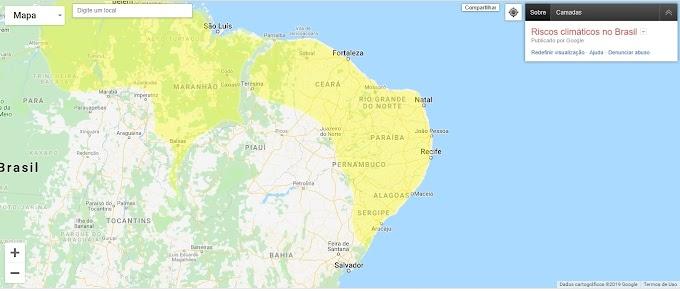 TEMPORAL: Alerta Amarelo, Chuvas Intensas no Nordeste do Brasil.