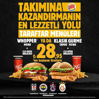 burger king menü fiyat kampanyaları restoran gel al fırsatları 2021