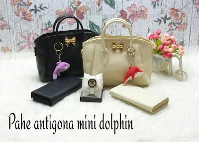 Paket 3 in 1 Tas, Dompet, Jam, Free Ongkir, Pahe Antigona Mini Dolphin