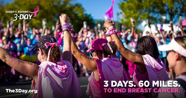 Naturally Me, Susan G. Komen 3-Day event, Susan G. Komen Philadelphia 3-Day, Susan G. Komen, #The3Day, #PHL3Day, Breast Cancer Awareness