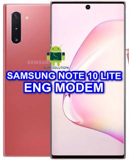 Samsung Note 10 Lite SM-N770FDS Eng Modem File-Firmware Download