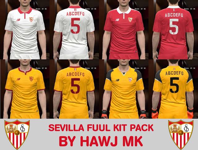 PES 2017 Sevilla 2016 2017 Full Kits-Pack. CREDITS  Hawj mk. DOWNLOAD 9ba42a852