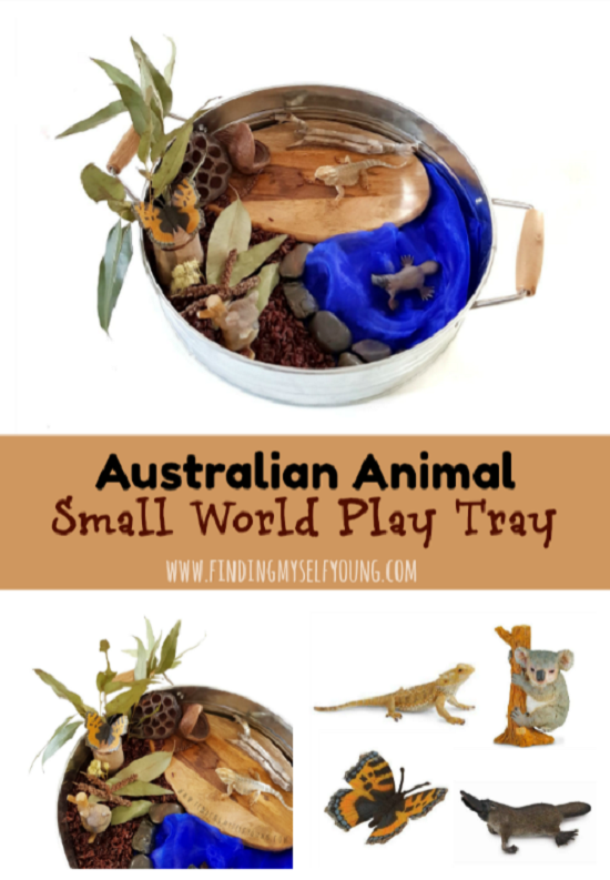 Australian animal small world play tray by Finding Myself Young