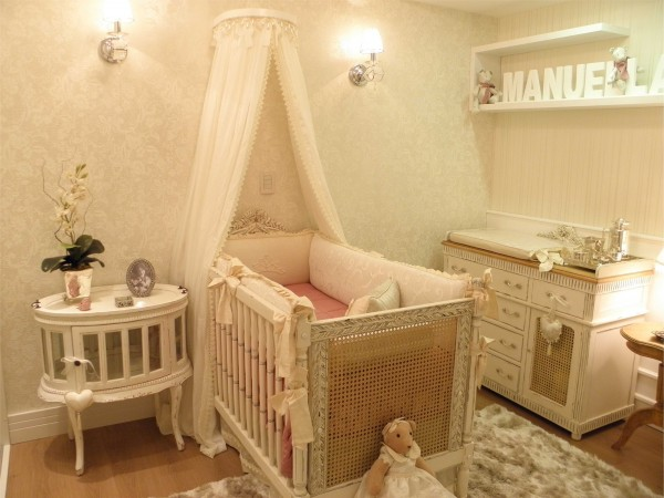 decoração provençal romantica para quarto de menina