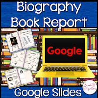 biography book report - google slides