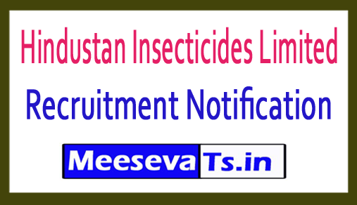 Hindustan Insecticides Limited HIL Recruitment