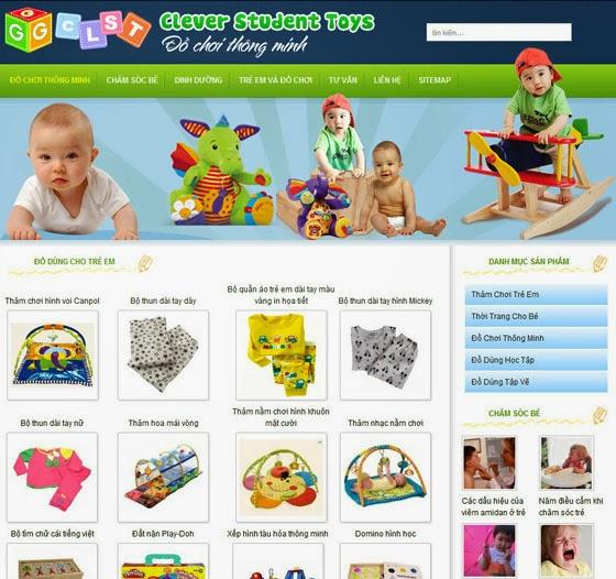 thiết kế website bán hàng đồ chơi