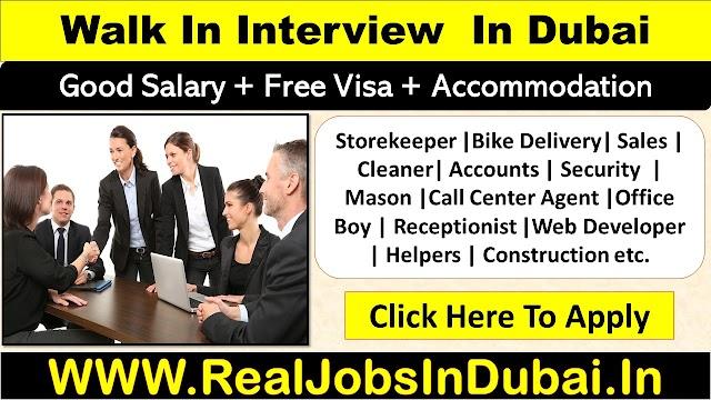 Walk In Interview In Dubai , Abu Dhabi & Sharjah - UAE 2020