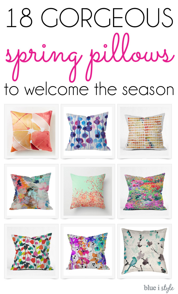 18 Gorgeous Spring Pillows