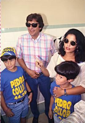 Pedro Collor e  Tereza com os filhos
