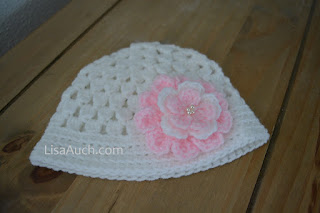 free crochet baby hat pattern in cluster stitch