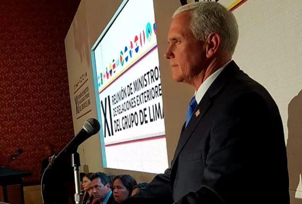 Mike Pence, desde Bogotá: Ha llegado el momento de que hagamos más