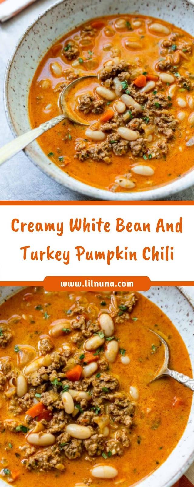 Creamy White Bean And Turkey Pumpkin Chili